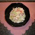 Салат овощной с омлетом