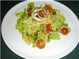 Салат с кальмаром под цитронетом с мёдом