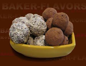 Шоколадные трюфели с вишней и кешью
